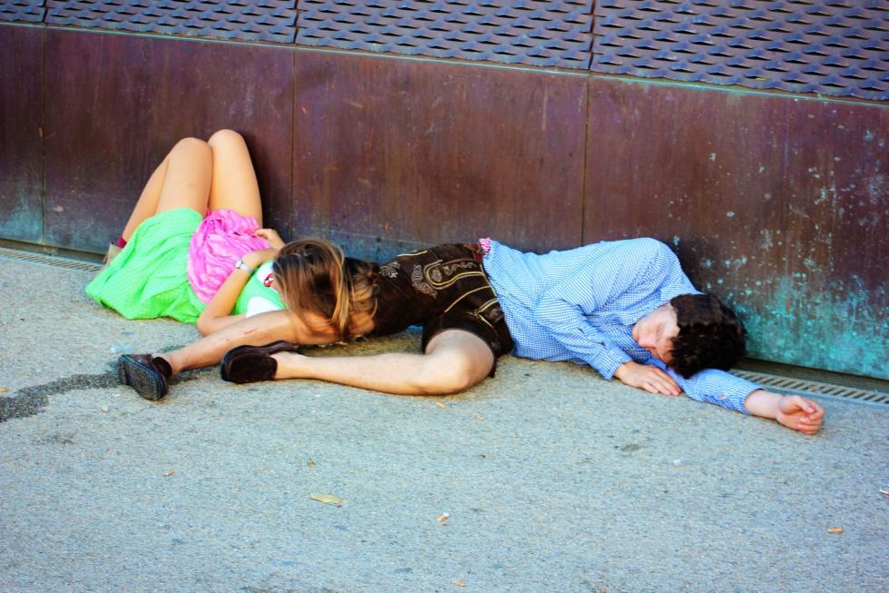 Drunk teens.